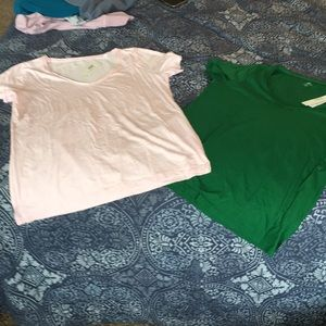 J Crew  T Shirts size M new with Tags set of 2